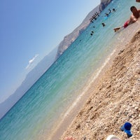 Photo taken at Baška Beach by Béla K. on 7/27/2013