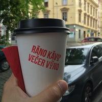 Photo taken at Ráno Kávu Večer Víno by Michal T. on 8/9/2016
