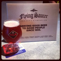 Photo taken at Flying Saucer by Monica B. on 10/6/2012