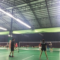 Photo taken at CC Badminton Court by airwii a. on 6/24/2016