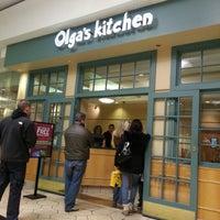 Photo taken at Olga's Kitchen by Nikki P. on 11/14/2012