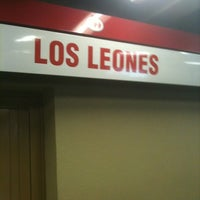 Photo taken at Metro Los Leones by Tania A. on 10/15/2012