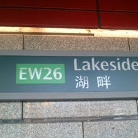 Photo taken at Lakeside MRT Station (EW26) by Nanaa M. on 10/28/2012