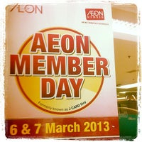 Photo taken at AEON by Hou F. on 3/7/2013