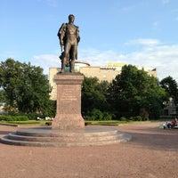 Photo taken at Памятник Багратиону by St. Petersburg on 7/11/2013