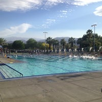 Photo taken at Palm Desert Aquatic Center by Erin P. on 4/5/2013