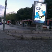 Photo taken at Bornova Metro Otobüs Durağı by Aslıhan Nur Ö. on 12/3/2012