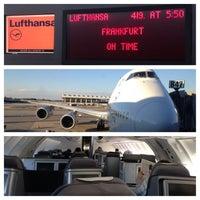 Photo taken at Lufthansa Flight LH 419 by Daniel P. on 2/27/2014