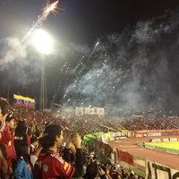 Photo taken at Estadio Olímpico Universitario by Cristymar B. on 2/14/2013