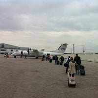 Photo taken at Skycharter FBO Pearson International Airport Toronto by Marie-Eve C. on 5/28/2014