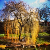 Photo taken at Kronenburgerpark by Karen V. on 2/5/2013