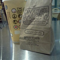 Photo taken at Which Wich? Superior Sandwiches by Kelly B. on 10/16/2012