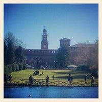 Photo taken at Parco Sempione by Elisa M. on 2/3/2013