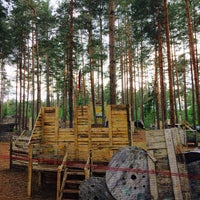 Photo taken at Bušas Paintball by Kaspars C. on 6/5/2016
