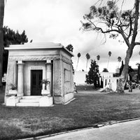 Photo taken at Hollywood Forever Cemetery by Ryan F. on 10/21/2012