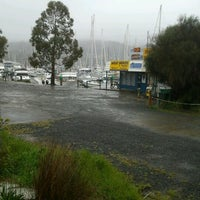 Photo taken at Oyster Cove Marina by Deb D. on 10/25/2012