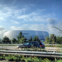 Photo taken at Allianz Arena by Мишка С. on 9/24/2013