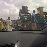 Photo taken at Asejere Market, Makoko by Bankole on 4/14/2013