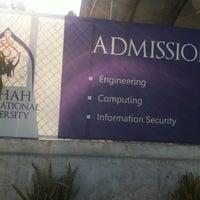 Photo taken at RIPHAH International University by Mian A. on 6/8/2013