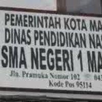 Photo taken at SMA Negeri 1 Manado by David R. on 10/10/2012