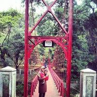 Photo taken at Jembatan Merah Kebun Raya Bogor by sutikno on 9/29/2012