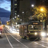 Photo taken at Tram Stop 5 - Melbourne Central (19/57/59) by Yvonne K. on 7/5/2013
