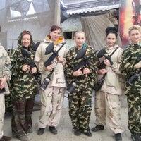 Photo taken at Пейнтбольный клуб Адреналин by Vera F. on 3/21/2015