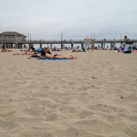 Photo taken at Huntington Beach Beach Volleyball Courts by Luis R. on 6/7/2013