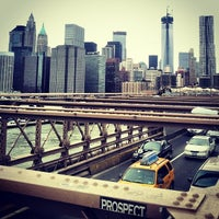 Photo taken at Brooklyn Bridge Promenade by Ivan C. on 3/3/2013