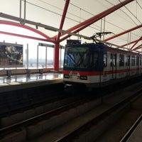 Photo taken at Metrorrey (Estación San Nicolás) by A r a A. on 1/17/2015