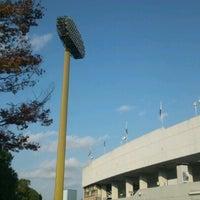 Photo taken at Todoroki Athletics Stadium by mixikoko【K】 on 11/24/2012