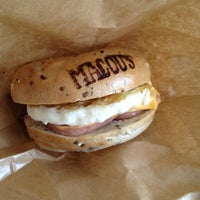 Photo taken at Macou's Bagel by Gregory P. on 10/18/2012