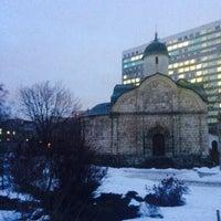 Photo taken at Храм св. мч. Трифона в Напрудном by Веста Б. on 1/15/2015