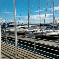 Photo taken at Oeiras Yacht Harbour by Neto C. on 10/11/2012