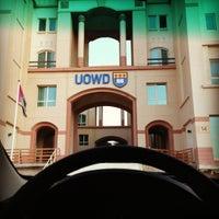 Photo taken at University of Wollongong in Dubai (UOWD) by Zaid T. on 10/22/2012