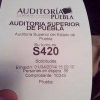Photo taken at Auditoría Superior del Estado de Puebla by Beto S. on 4/1/2014
