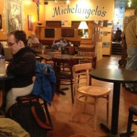 Photo taken at Michelangelo's Coffee House by John C. on 10/19/2012