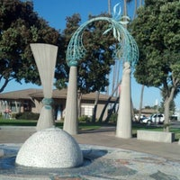 Photo taken at Pearl of the Pacific Fountain by Lor on 11/21/2012