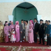 Photo taken at Masjid Al-Hambra-Pusdiklat Krakatau Steel by Rayhan K. on 12/9/2012