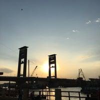 Photo taken at Jembatan Ampera by fajri y. on 8/21/2017
