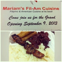 Photo taken at Mariam's Fil-Am Cuisine by Joshua B. on 9/9/2013