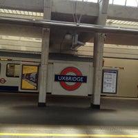 Photo taken at Uxbridge London Underground Station by Abdullah B. on 7/1/2013