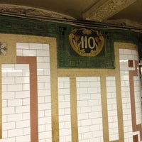 Photo taken at MTA Subway - Cathedral Pkwy/110th St (1) by Sergey S. on 1/3/2013