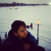 Photo taken at Rideau Canal Skateway by Zelena v. on 1/18/2014