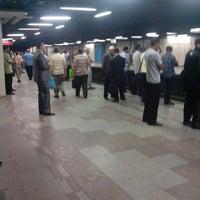 Photo taken at Al Shohadaa Metro Station by Ahmed M. on 7/29/2013
