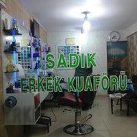 Photo taken at Sadık erkek kuaförü by Abdullah A. on 8/27/2014