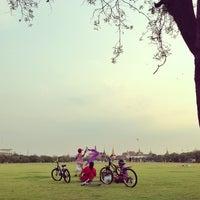 Photo taken at Sanam Luang by Nini H. on 2/9/2013