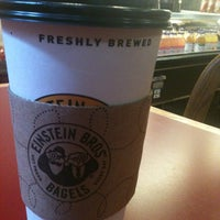 Photo taken at Einstein Bros Bagels by Sheila D. on 10/18/2012