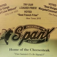 Photo taken at Spanky's Cheesesteak Factory by Eric K. on 2/10/2013