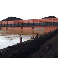 Photo taken at PT. Putra Muba Coal Jetty, Sungaijering by Arif Eka S. on 6/25/2013
